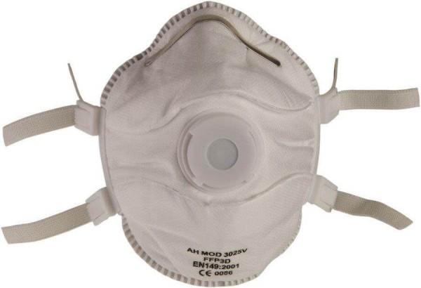 Atemschutzmaske FFP3 NR D mit Ausatemventil Dichtlippe Universal | weiß